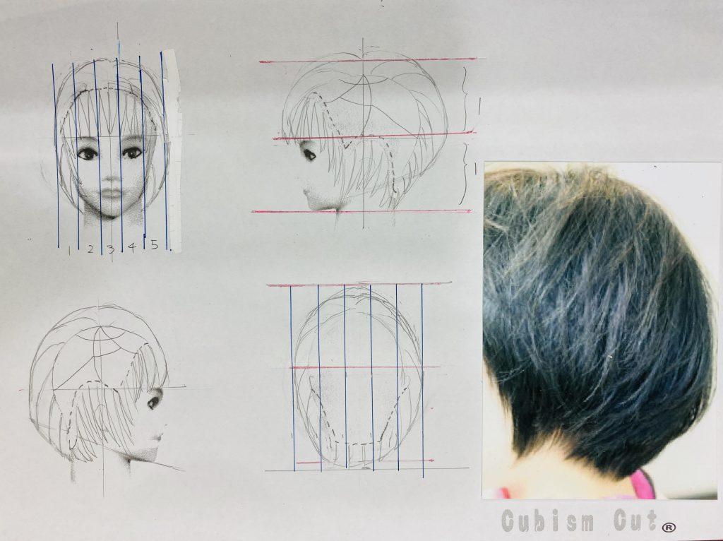 キュビズムカット野デザイン画