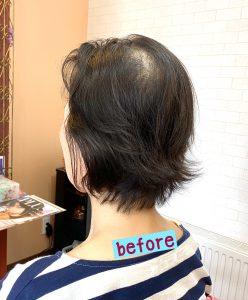 ご来店時の髪の様子